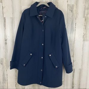 TOMMY HILFIGER SOFT SHELL BUTTON PLACKET COAT